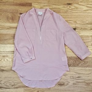 Long sleeve baby pink professional blouse